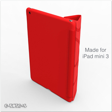 Fashion leather smart cover cases for iPad mini 3 with Y-style stand option