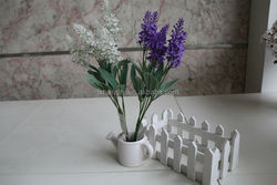 NZ-2022 High quality fabric decorative artificial flowers lavender