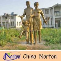 golden color life size figure fiberglass statue NTRS030S