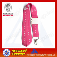 Wholesale polyester sublimation printing safety lanyard clip for sale