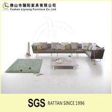 Fashionable Leisure Simple Patio Wicker Furniture,Stylish European Style Outdoor Rattan Chesterfield Sofa