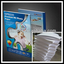 260gsm RC photo paper rolls sheets glossy/ satin/ luster/ sillky/ wove