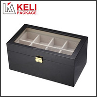 New design square wooden watch box with window for eight watches use