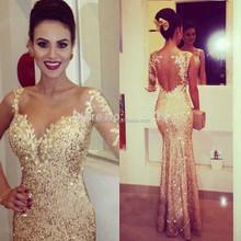 Vestidos De festa Vestido Longo One Sleeve Long Sequins Women Gowns Elegant Mermaid Formal Evening Dress Prom Dress