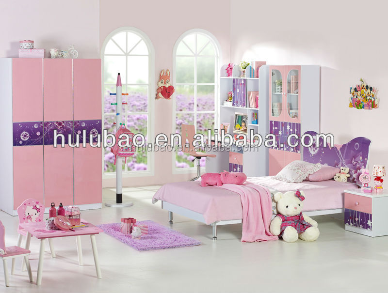Sweet And Warm Kids Bedroom Furniture Girls With 3d Photocopy Technology Swivel Chair Match