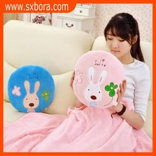 wholesale ployester Coral fleece large Air conditioning blanket multi-purpose pillow blanket cushion