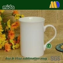 10oz White blank Bone china mugs for sublimation HIGH QUALITY