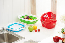rectangular food grade plastic basket for storage