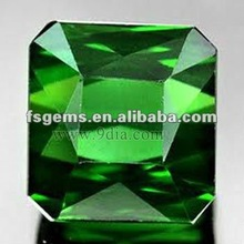 Octagon Chrome Diopside for Silver and Gold Jewelry