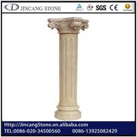 White Marble/Stone Pillar Design,Round Pedestal,Roman Column