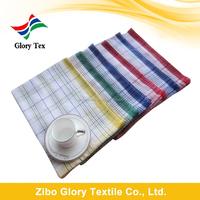 china wholesale standard size yarn dyed cotton kitchen tea towels