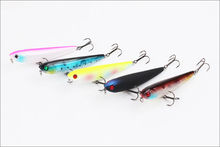 80mm 9.4g Pencil Plastic Lure Fishing Bait Fishing Lure 3D eyes VMC Hooks