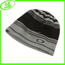 Custom winter outdoor cap jacquard acrylic man hat
