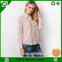 las mujeres blusa camisa el último modelo de diseños de camisetas para las mujeres