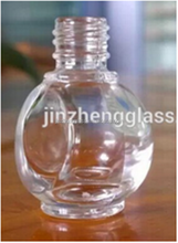 Venta al por mayor único en forma de mini vacío ladie de uñas esmalte de uñas esmalte, cristal esmalte de uñas botellas