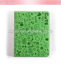 For The New Ipad leather case 12 colors in the stock open on the side smart cover cute magic girl