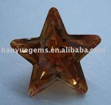 Moda Cubic Zirconia piedra con Precious Brown Star ámbar de diamante sintético para la joyería