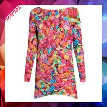Custom printing casual dress designs