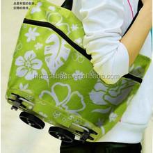 folding shopping trolley bag with 2 wheels, shopping bag trolley