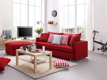 Top Fabric And Comfortable Cushion Living Room Fabric Sofa Bed