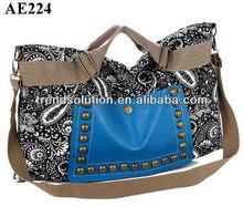 trendy girls large capacity handle k k handbags