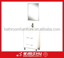 white bathroom vanity(BZ 79) High gloss Deawer style bathroom furniture