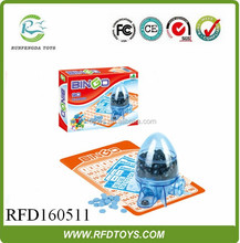 Kids hand bingo toys winning machine,bingo cage design game toys,bingo set