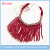 Wholesale africa beaded necklace jewelry set luxury red resin coral beads tassel necklace
