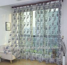 elegante de estilo europeo pura de poliéster cortina de voile cortina del telar jacquar el último diseño para sala de estar