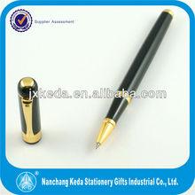 marca de moda de lujo de oro de metal del rodillo de la promoción de la pluma de bola como regalo