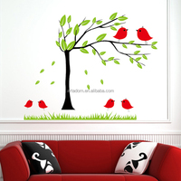 Newest Cute Repositionable Wall Adhesive Tree Kid Sticker
