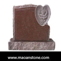 Heart Shape Funeral Angel Granite Tombstone and Monument Slab