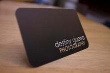 high-grade foil and letterpress business card black paper cards