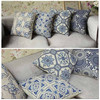 2015 New vintage print cotton sofa cushion cover replacement pillow cover A077