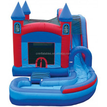 Inflatable Combos,inflatable Non slip 2 piece jump N splash wet&dry slide with landing