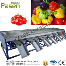 Vegetable sorting machine for tomato potato paper