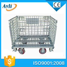 2014 hot sales metal warehouse storage cage heavy duty wire basket