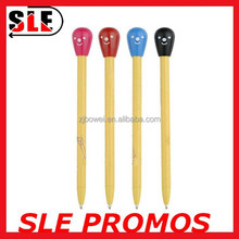 Promotion click matchstick ball pen
