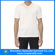 Shenzhen wholesale clothing white blank plain no brand t-shirt