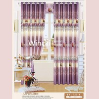 flower design fancy window curtain design 2015 for living room