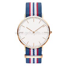 china wholesale ultra thin style top quartz 3ATM water resistance watch nylon strap