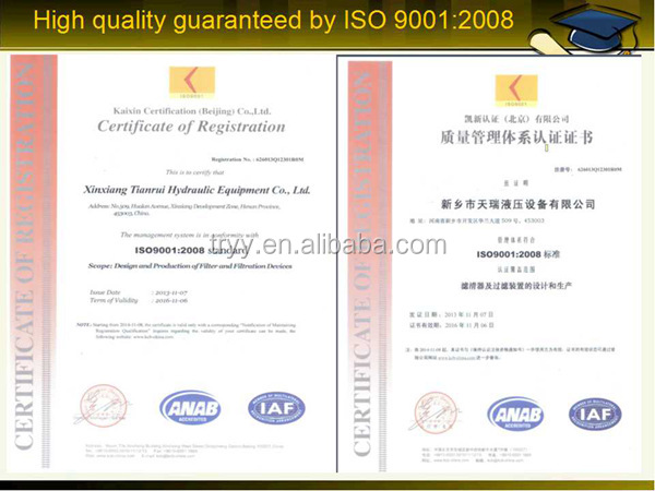 Certification for ISO9002