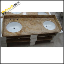 Integrated Commercial Double Bathroom Sink Countertop