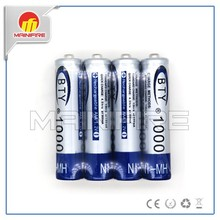 Hot Selling OEM 1.2V AAA nimh Dry rechargeable Battery