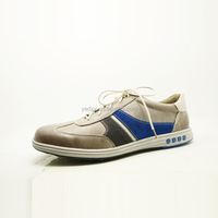 soft outsole fashionable blue strap lace up men brand leather sport shoes