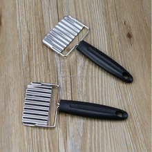 Stainless steel is muti_function shredder Creative wave potatoes knife Cut chips kitchen gadgets