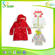 lovely PVC children raincoat/raincoat for kids/waterproof rainwear