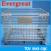 Warehousing welding collapsible wire mesh cage