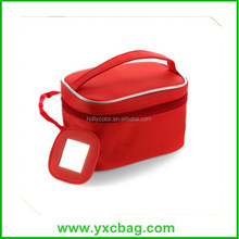 Personalized Red Ladies Cosmetic Bag with Mirror