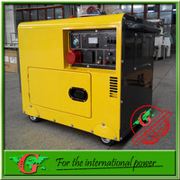 Sound proof diesel generator 6Kva generador electrico with single cylinder diesel generator